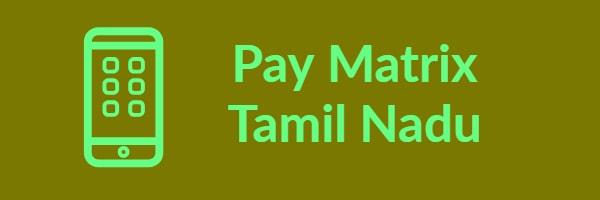 Pay Matrix Tamil Nadu