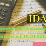 IDA revised rate