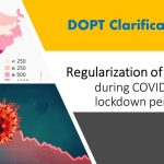 regularization of absence during COVID-19 lockdown period