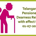 Telangana Pensioners Dearness Relief to with effect from 01-07-2019