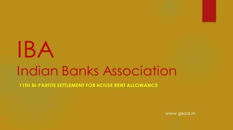 11th Bi-Partite Settlement for House Rent Allowance
