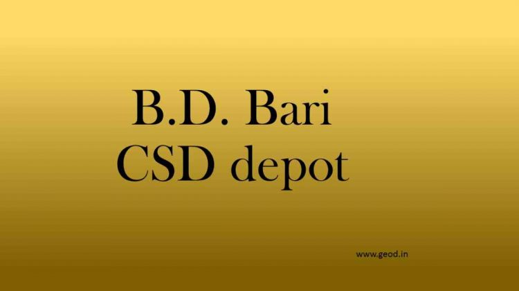 B.D. Bari CSD depot
