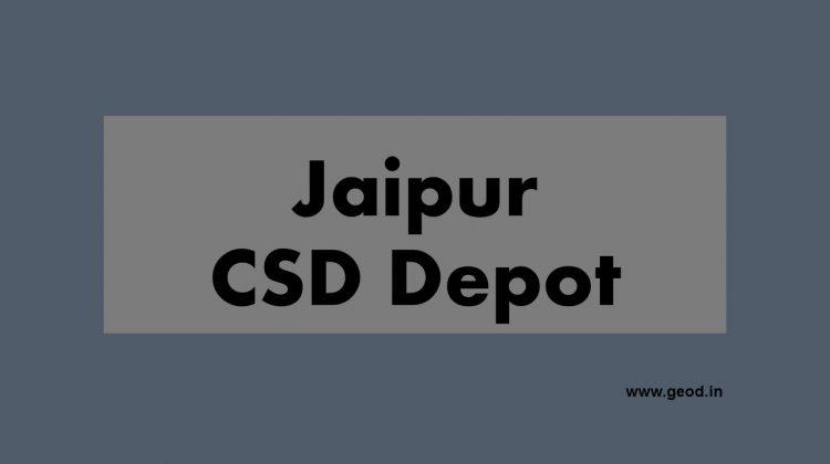 Jaipur CSD depot