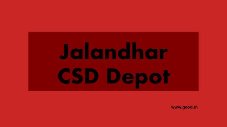 Jalandhar CSD depot
