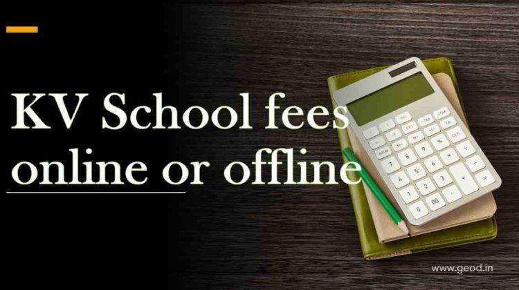 KV Fees online