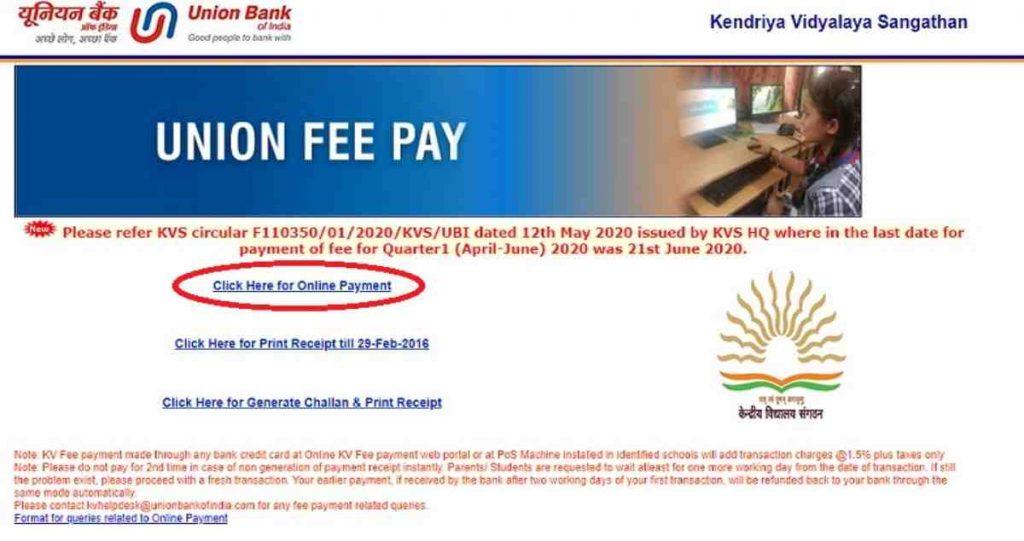 KV fees UBI link