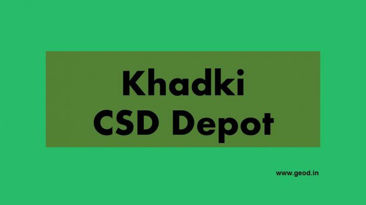 Khadki CSD depot