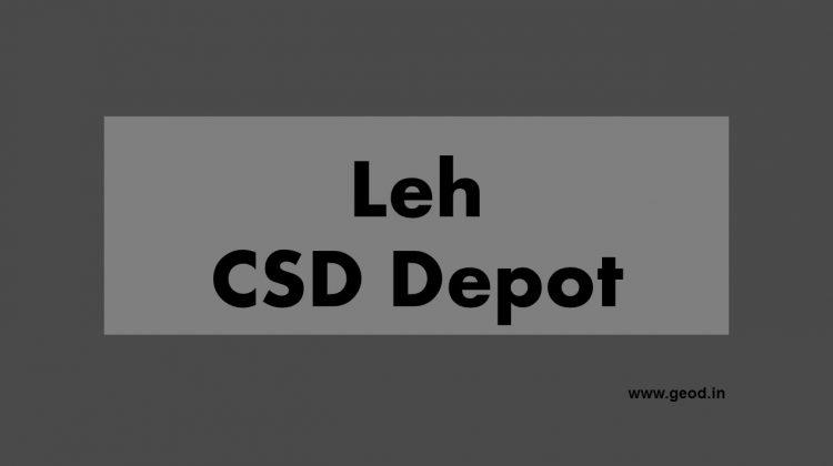 Leh CSD Depot