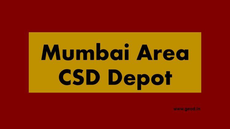 Mumbai Area CSD Depot