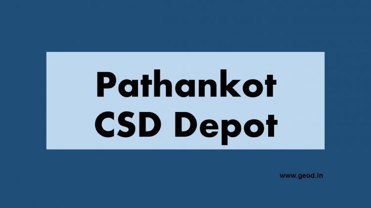 Pathankot csd depot