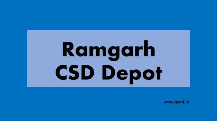 CSD depot Ramgarh