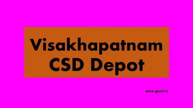 Visakhapatnam CSD Depot