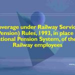 Coverage under Railway Services (Pension) Rules, 1993