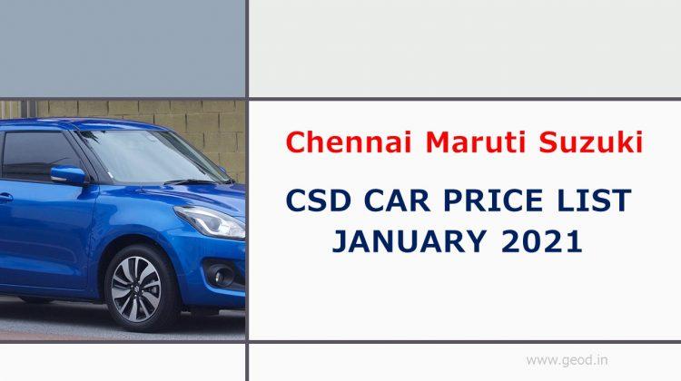 Chennai Maruti Suzuki Car CSD Price