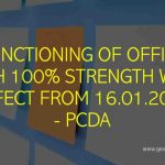 Functioning of office with 100% strength