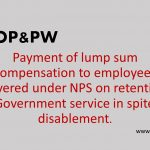 Payment of lump sum compensation to employees