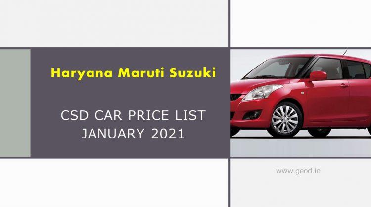 CSD Price list Haryana
