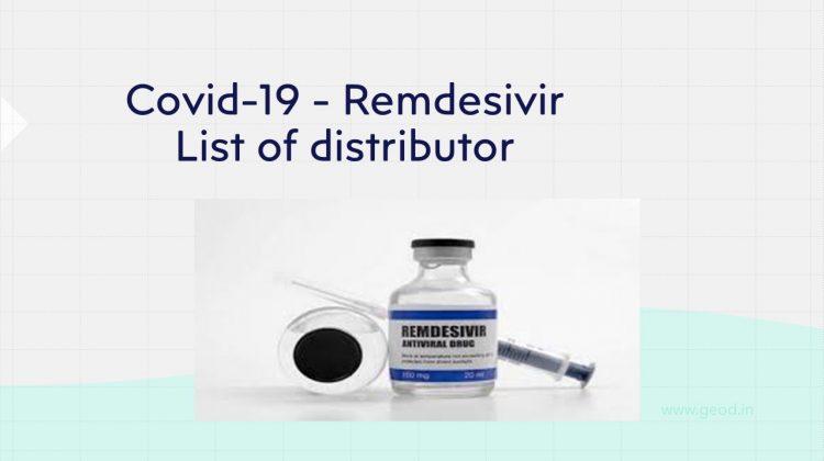 Covid-19 Remdesivir Medicine list of distributor