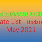 Delhi/NCR CGHS Rate List - Updated May 2021