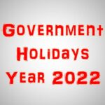 Government Holidays During The Year 2022