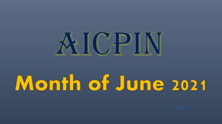 AICPIN Month of June 2021