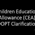 Child Education Allowance latest DOPT Order