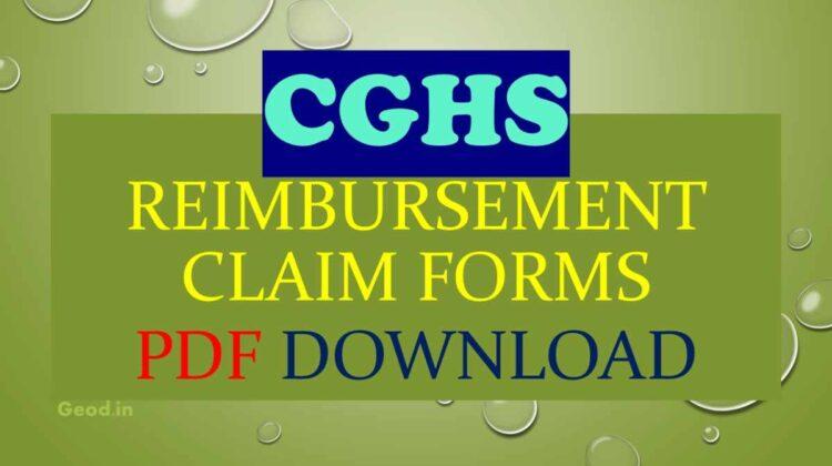 CGHS Reimbursement Claim Forms