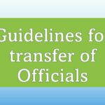 Guidelines for transfer of Officials