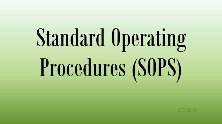 Standard Operating Procedures (SOPS) - DOPT