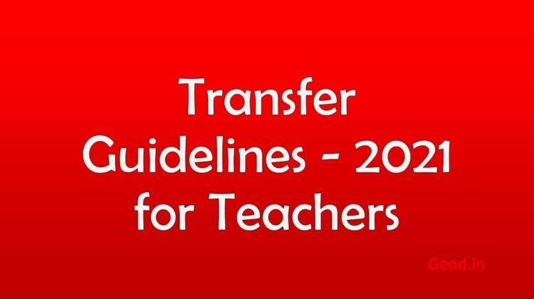 Transfer Guidelines - 2021 for Teachers
