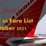 LTC 80 Fare List October 2021